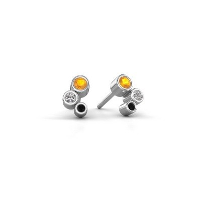 Picture of Stud earrings Marlys 925 silver citrin 2.5 mm