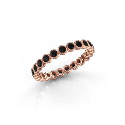 Foto van Ring Mariam 0.03 375 rosé goud zwarte diamant 0.828 crt