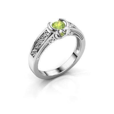 Ring Elena 925 Silber Peridot 4 mm