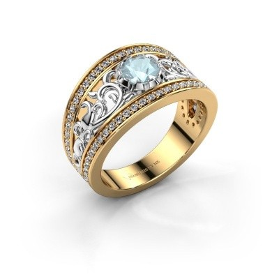 Ring Marilee 585 goud aquamarijn 5 mm