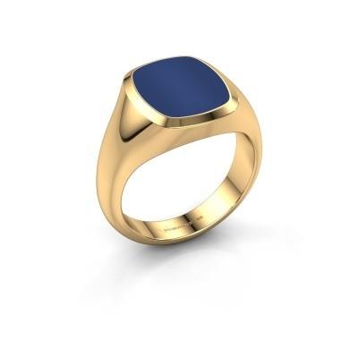 Foto van Zegelring Benjamin 2 585 goud lapis lazuli 13x11 mm