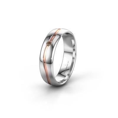 Ehering WH0905L35X 585 Weißgold Braun Diamant ±5x1.7 mm