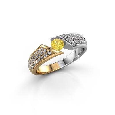 Foto van Ring Hojalien 3 585 goud gele saffier 4 mm