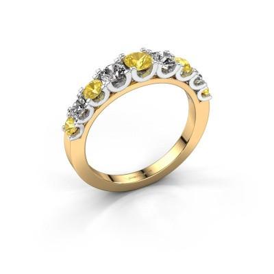 Foto van Verlovingsring Selina 4 585 goud gele saffier 3.7 mm
