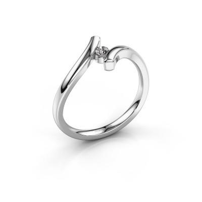 Foto van Ring Amy 950 platina lab-grown diamant 0.10 crt