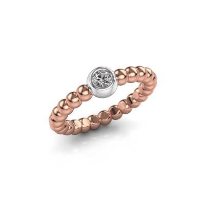 Aanschuifring Dini 585 rosé goud diamant 0.10 crt