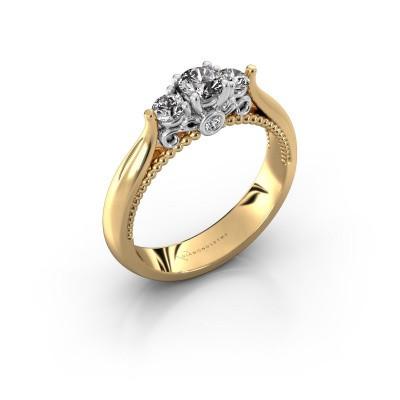Verlovingsring Tiffani 585 goud diamant 0.49 crt