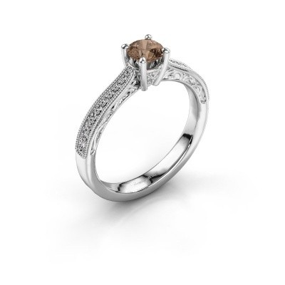 Foto van Belofte ring Shonta RND 585 witgoud bruine diamant 0.53 crt