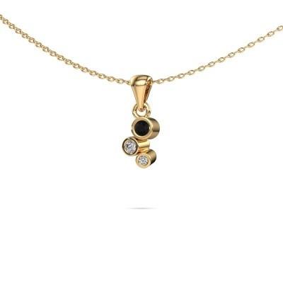 Foto van Hanger Tessa 375 goud zwarte diamant 0.117 crt