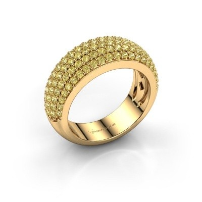 Foto van Ring Cristy 375 goud gele saffier 1.2 mm