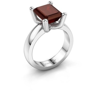 Ring Clelia EME 585 witgoud granaat 10x8 mm