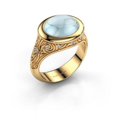 Foto van Ring Natacha 585 goud aquamarijn 12x10 mm
