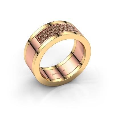 Ring Marita 3 585 rose gold brown diamond 0.29 crt