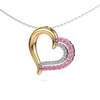 Necklace Kandace 585 gold pink sapphire 1.9 mm