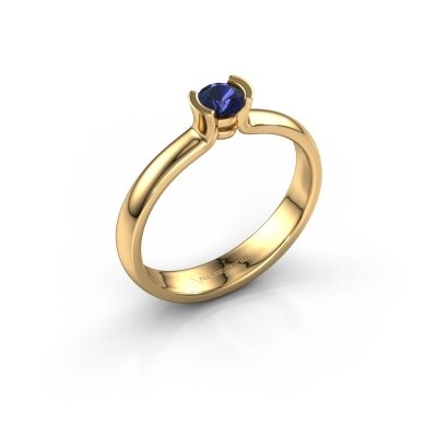 Engagement ring Ophelia 375 gold sapphire 4 mm