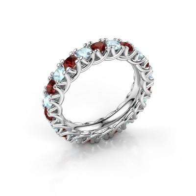 Ring Fenna 925 zilver granaat 3 mm
