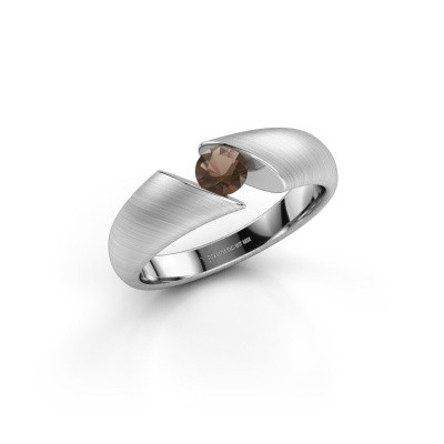 Picture of Ring Hojalien 1 925 silver smokey quartz 4.2 mm