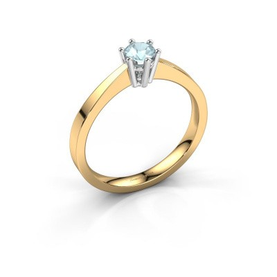 Engagement ring Noortje 585 gold aquamarine 4 mm