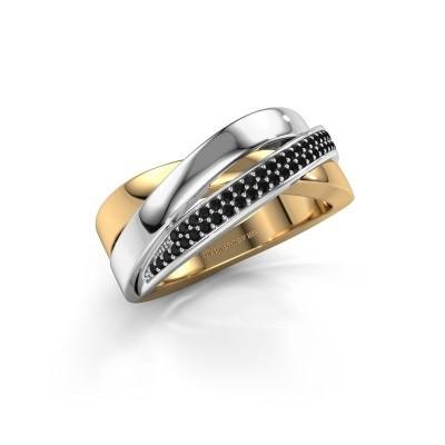 Bild von Ring Katherina 585 Gold Schwarz Diamant 0.306 crt