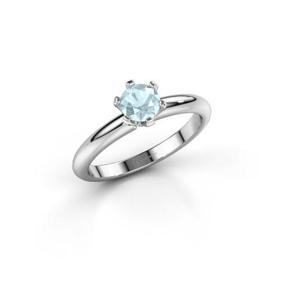 Picture of Engagement ring Tiffy 1 950 platinum aquamarine 5 mm