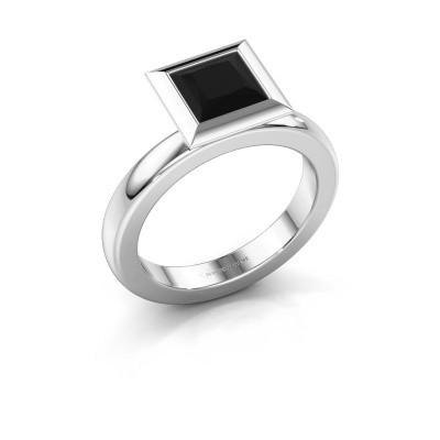 Stapelring Trudy Square 950 platina zwarte diamant 1.56 crt