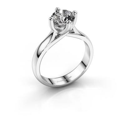Verlobungsring Janne 585 Weißgold Diamant 1.00 crt