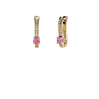 Ohrringe Valorie 585 Gold Pink Saphir 4 mm