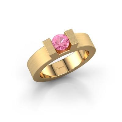 Foto van Ring Leena 1 375 goud roze saffier 5 mm