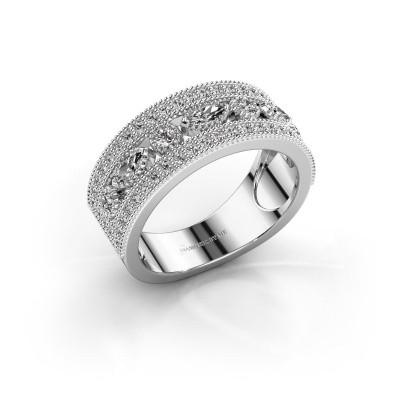 Ring Henna 585 witgoud zirkonia 4x2 mm