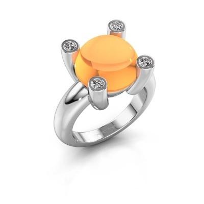 Foto van Ring Janice RND 950 platina citrien 12 mm