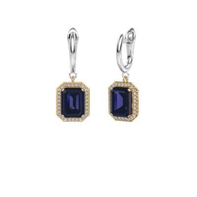 Drop earrings Dodie 1 585 gold sapphire 9x7 mm