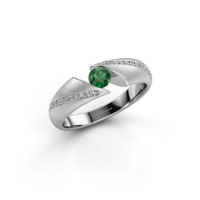 Foto van Ring Hojalien 2 585 witgoud smaragd 4 mm
