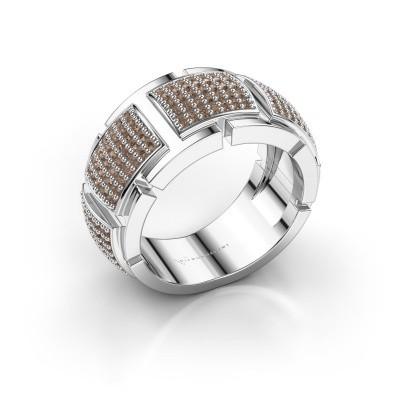 Foto van Ring Laura 585 witgoud bruine diamant 0.75 crt