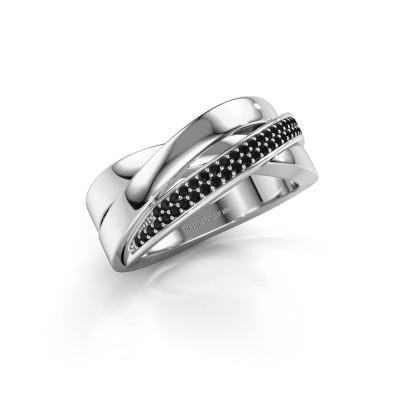 Foto van Ring Katherina 925 zilver zwarte diamant 0.306 crt