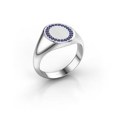 Men's ring Floris Oval 2 950 platinum sapphire 1.2 mm
