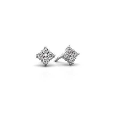 Picture of Stud earrings Maryetta 585 white gold diamond 0.24 crt