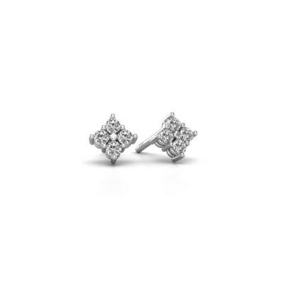Foto van Oorstekers Maryetta 585 witgoud diamant 0.24 crt