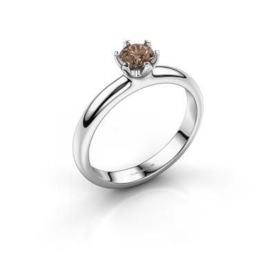 Foto van Verlovingsring Lorretta 950 platina bruine diamant 0.40 crt