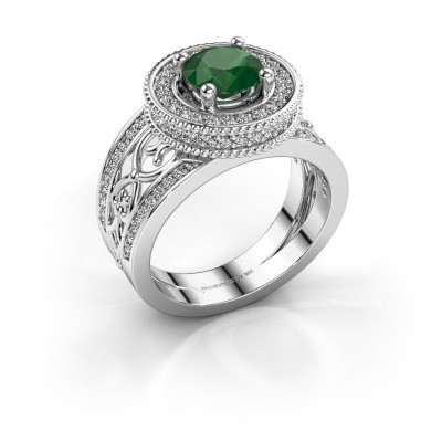 Ring Joy 950 Platin Smaragd 6.5 mm