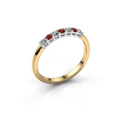 Verlovings ring Michelle 7 585 goud granaat 2 mm