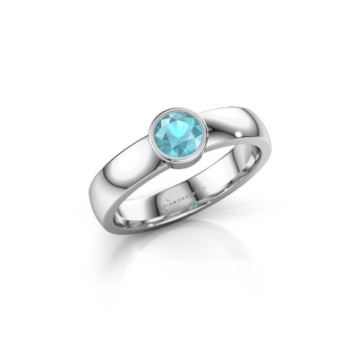 Ring Ise 1 925 zilver blauw topaas 4.7 mm