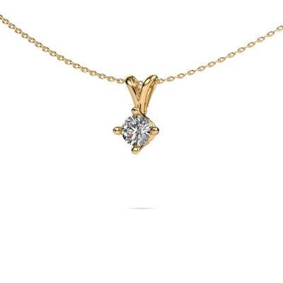 Foto van Ketting Jannette 375 goud diamant 0.40 crt