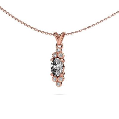 Hanger Lucy 2 375 rosé goud diamant 0.89 crt