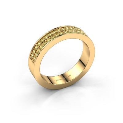 Stackable ring Catharina 4 375 gold yellow sapphire 1.3 mm