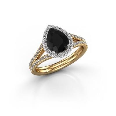 Foto van Verlovingsring Elenore 2 585 goud zwarte diamant 1.527 crt