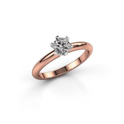 Foto van Verlovingsring Tiffy 1 585 rosé goud diamant 0.40 crt