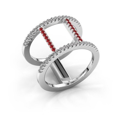 Ring Amee 925 silver ruby 1.2 mm