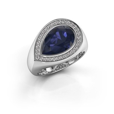 Picture of Ring Latashia 925 silver sapphire 12x8 mm