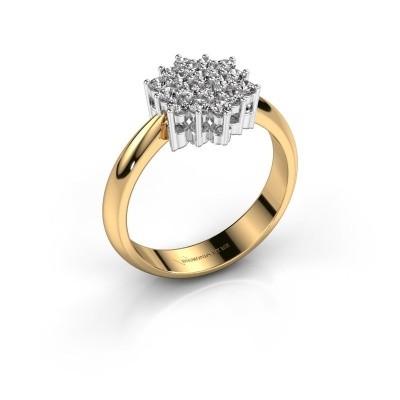 Ring Bente 585 goud zirkonia 1.9 mm