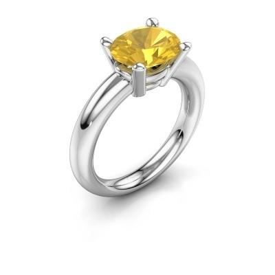Ring Janiece 925 Silber Gelb Saphir 10x8 mm